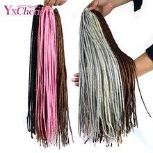 Cabelo sintético dreads coleção africano trança extensão do cabelo louro faux locs crochê tranças yxcheris