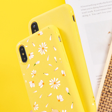 Daisy Cute Flower Transparent Phone Cases For iPhone SF
