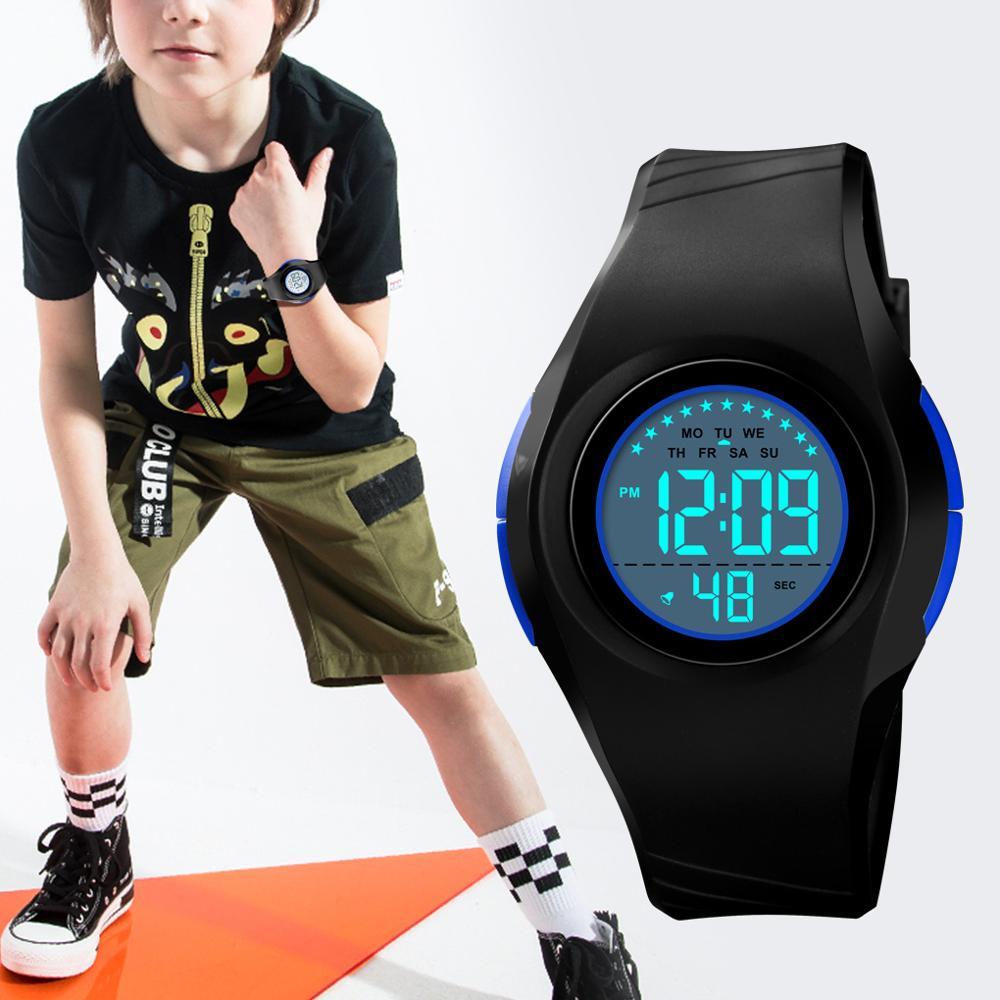 SKMEI Мальчик Спорт Цифровой Часы Секундомер Водонепроницаемый Детские Часы Мода Световой Будильник Часы Дети relogio infantil 1556