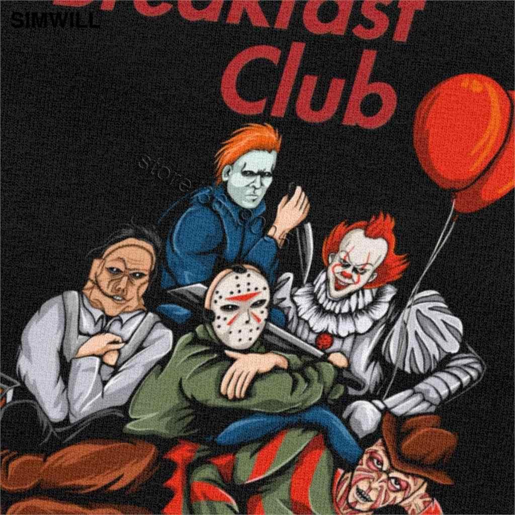 La camiseta del Club del desayuno camiseta de los personajes de la TV de Horror de Stephen King Camiseta de manga corta de Michael Moon Jason Voorhees Pennywise camiseta