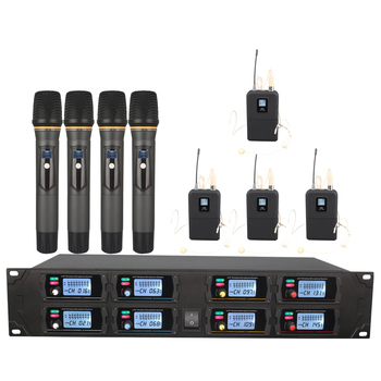 Orban wireless microphone system, UHF octagonal headset, portable wireless microphone, stage / school microphone