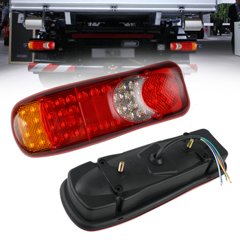 цена на Rear Tail Light 46 LED 12V Trailer Truck Lorry Stop Taillights Auto Car Signal Lamp Caution Indicator Waterproof Fog Light