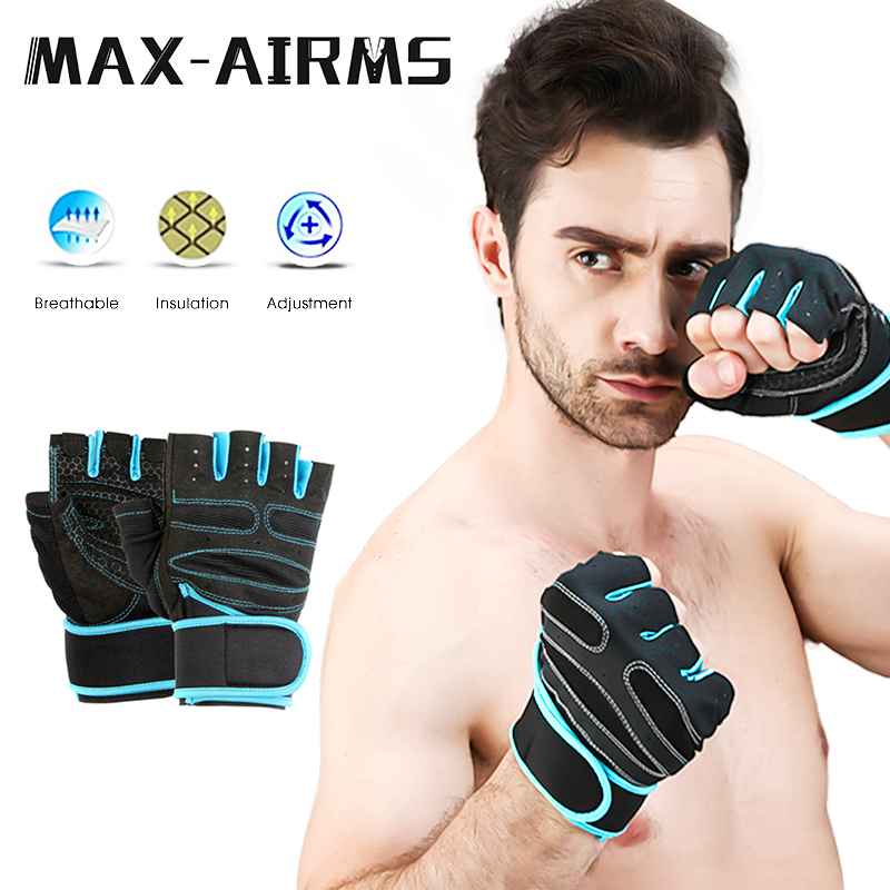 Maxairms Gym Gloves Fitness Weight Lifting Gloves Body Building Training Sports Exercise Sport Workout Glove For Men Women