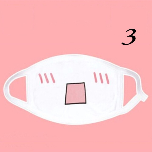 1pc Cotton Mouth Mask Kwaii Cute Anti Dust Mask  Anime Cartoon Mouth Muffle Face Mask Emotiction Masque Kpop Masks 3