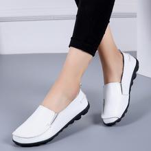 VIP nowe buty na niskim obcasie buty kobieta miękkie kobiety obuwie płaskie buty ze skóry naturalnej buty wkładane mokasyny Plus rozmiar kobiet buty HVT998 tanie tanio YWYGMZ CN (pochodzenie) Prawdziwej skóry Skóra bydlęca Slip-on Pasuje prawda na wymiar weź swój normalny rozmiar Na co dzień
