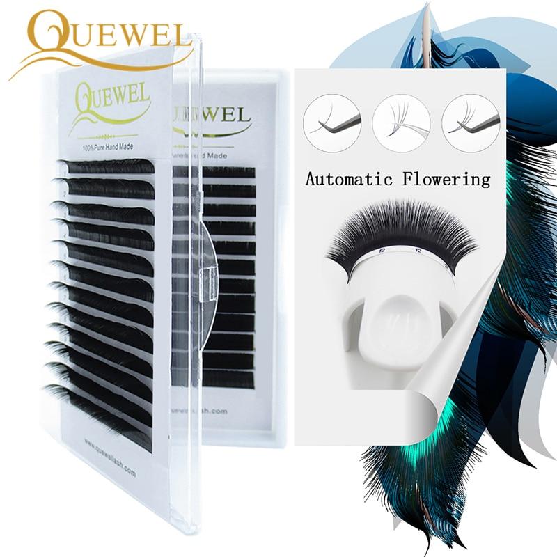 Autofans Eyelashes Bloom Lashes Automatic Flowering Eyelash Faux Mink Make Fan Russian Volume Silk Lashes Make Up Cilia Quewel