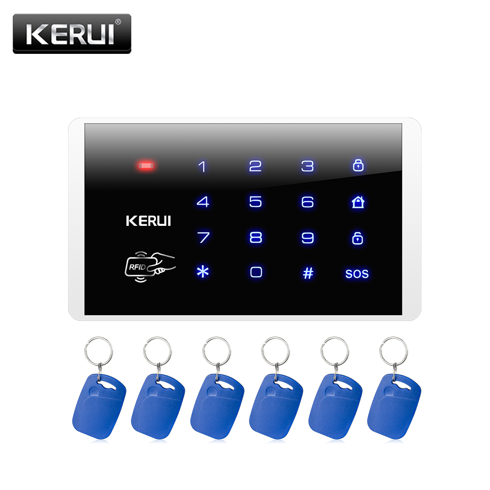 KERUI Wireless Keypad RFID Disarm Alarm System Touch Screen Keyboard For Kerui Home Security Alarm System