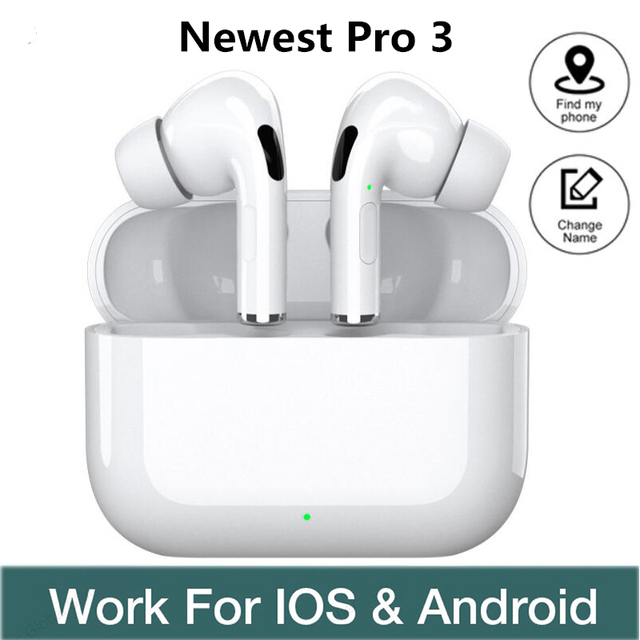 Pro 3 TWS Airpoding Bluetooth Earphone Wireless Headphones Earbuds Stereo Headset Sports Gaming Headset For IOS Android Phone 1