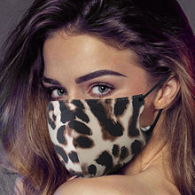 Máscara impresa de leopardo para adultos, respirador Reutilizable, lavable, PM2.5, transpirable, a prueba de viento, bucal