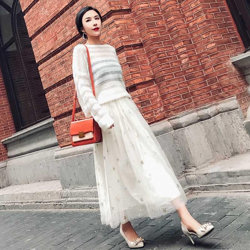 2020 秋の新ファッション女性の 2 点セットトップと甘いスカート女性カジュアルニットセータースーツ女性衣装 LWL591