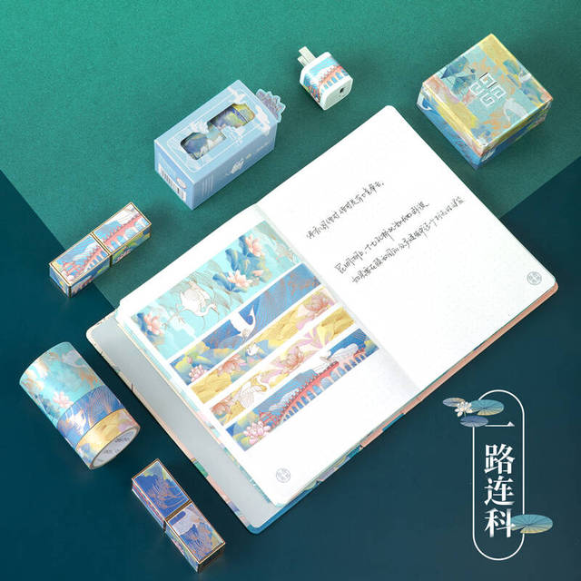3pcs Summer Palace Paper Washi Tape Set Original Chinese Luxury Style Adhesive Masking Tapes for Lipstick Diary Sticker DIY 6330 3