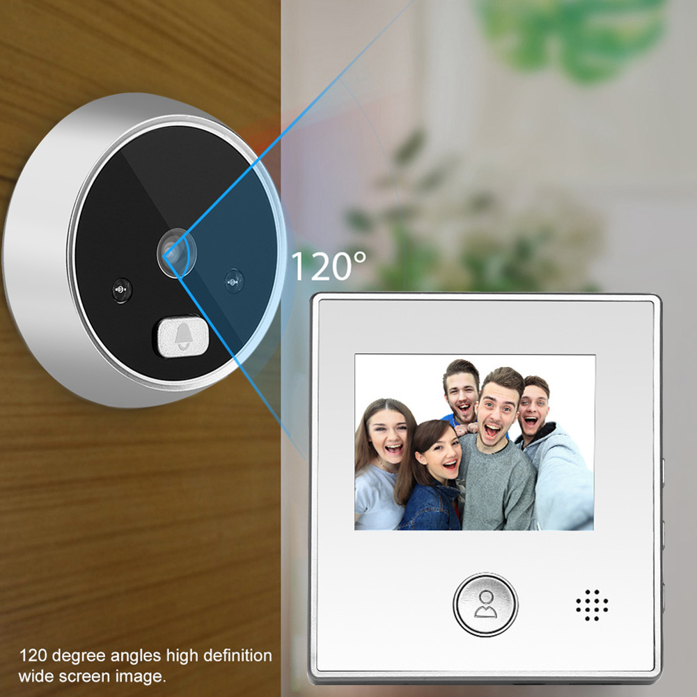 Wide Angle Peephole Intercom Night Vision Video Doorbell Smart Digital Viewer Anti-theft 2.8 Inch LCD Display Aluminum Electric