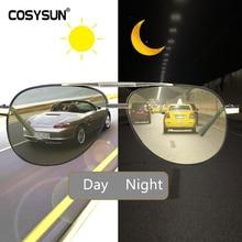 Ngày Đêm Photochromic Kính Mát Nam Kính Phân Cực Nhìn Xuyên Đêm Nam Oculos Lái Xe Vàng Lái Xe Kính Gafas De Nên