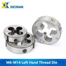 Amarrador métrico para máquina de mão esquerda, 1 peça, ferramentas de fita manual m6/m10/m10x1.0/m10x1.5/m12x1.0/m14x1.0