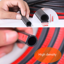 Big D Shape Car Door Seal Strips EPDM Rubber Noise Insulation Weatherstrip Anti Dust Soundproof Strong adhensive