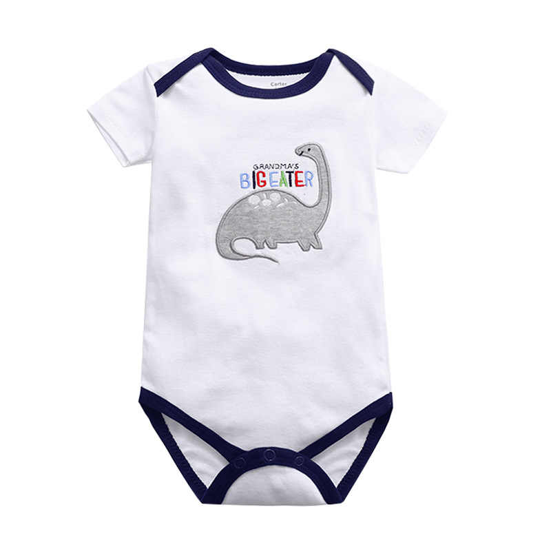 New Cotton Newborn short sleeve baby bodysuits Girl Boy clothes overalls neck baby Jumpsuit kids clothing Infant 0-24M
