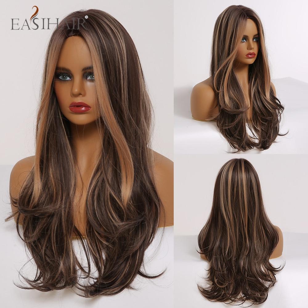 loira destaques cosplay perucas de cabelo natural