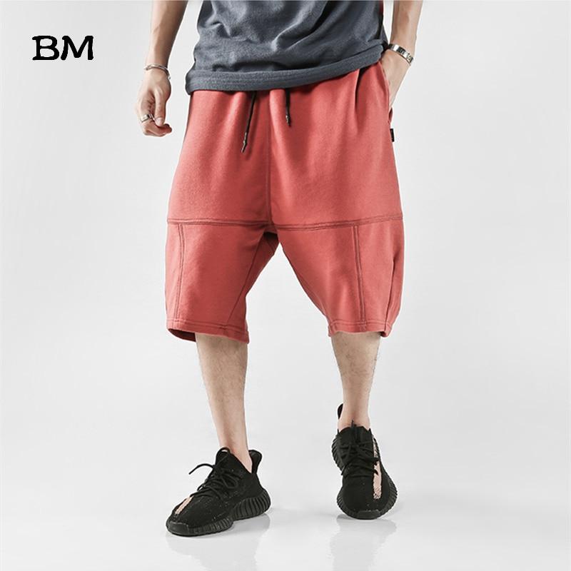 Hip Hop Shorts Men Summer Streetwear Sweatpants Kpop Korean Style Clothing Harem Shorts Hombre Fashions Harajuku Pants Male