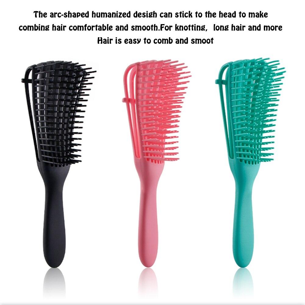 Расческа для волос Detangling, расческа для массажа головы, расческа для вьющихся волос, расческа для волос для женщин и мужчин, салонная щетка # ...