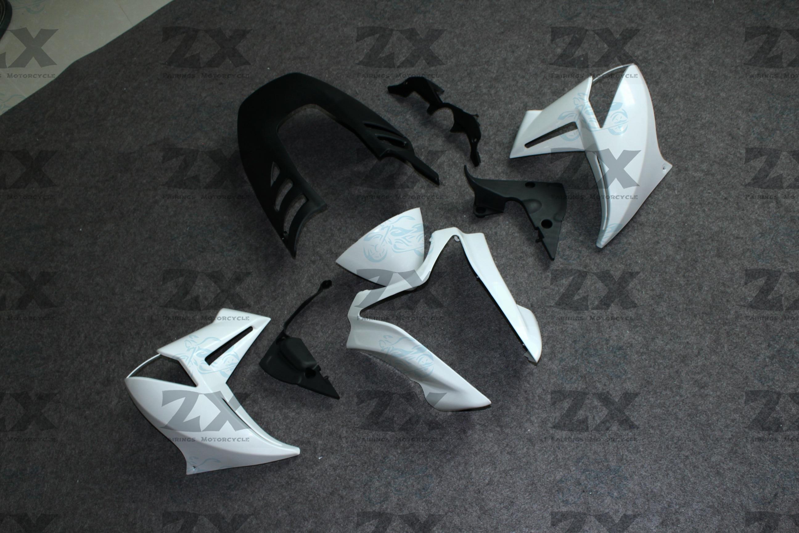 Unpainted Motorcycle Fairings Kits For Er6n 2009 2010 2011 2012  ER6N ER-6N ABS Injection Fairing Bodywork Kit ZXMT