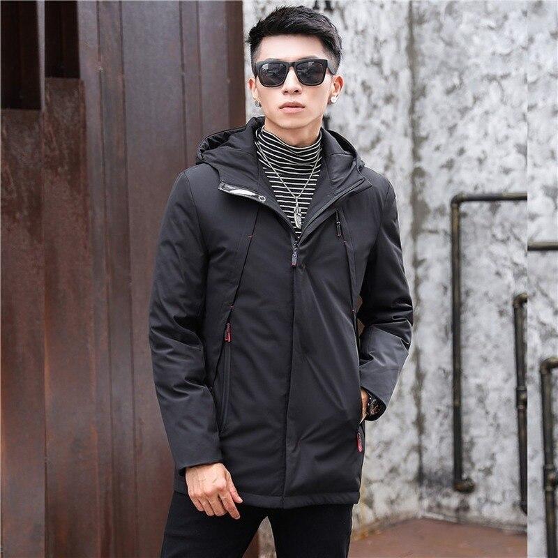 Duck Down Jacket Men Korean Plus Size Winter Coat Men Casual White Duck Down Puffer Jacket Men Warm Casaco 111 YY1314