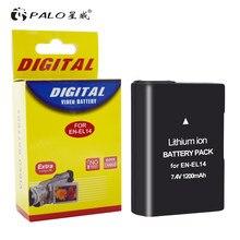 Palo 1Pcs 1200Mah EN-EL14 EN-EL14a ENEL14 EL14 Batterij Case Voor Nikon P7800 P7700 P7100 P7000 D5500 D5300 D5200