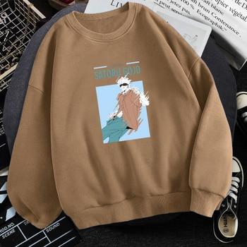 Satoru Gojo Anime Printed Sweatshirts Man 2021 Trendy Fashion Hoodies Comic Jujutsu Kaisen Harajuku Hip Hop Streetwear Hoody 2
