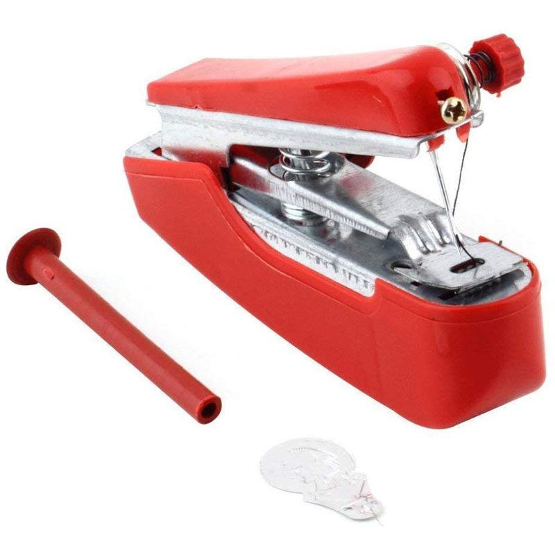 Manual Operation Portable Mini Sewing Machine Creative Simple Sewing Tools Home Travel Small Embroidery Random Color