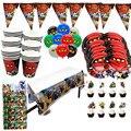 Вечерние принадлежности 137 шт для 20 Дети ниндзя тематическая вечеринка на день рождения вечерние украшения набор посуды, пластина из овечье...