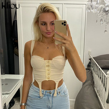 Streetwear Vest Camisole Crop-Top Strapless Sexy Kliou Fashion Woman Mujer Solid Bar