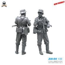 1/35 резиновые наборы немецкая пехота, подставка, солдат, модель, наборы, самосборка, Zai-04