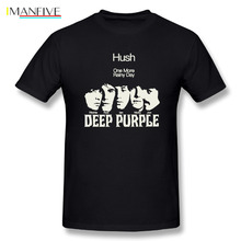 T Shirts Men Deep Purple All Members Rock Band One More Rainy Day Man O-Neck Short Sleeved T-Shirts Exercise Adult Tee
