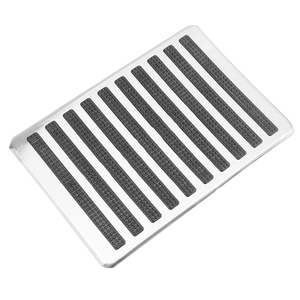 Image 4 - LEEPEE Auto Interior Floor Mat Patch Driver Car Side Floor Carpet Mats Stainless Steel Plate Carpet Foot Heel Pedal Replacements