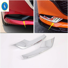 Yimaautotrims Auto Accessory Front Fog Lights Foglight Strip Lamp Eyelid Eyebrow Panel Cover Trim Fit For Mazda 3 2019 2020 ABS yimaautotrims auto accessory front fog lights lamp eyelid eyebrow cover trim fit for ford mondeo fusion 2017 2018