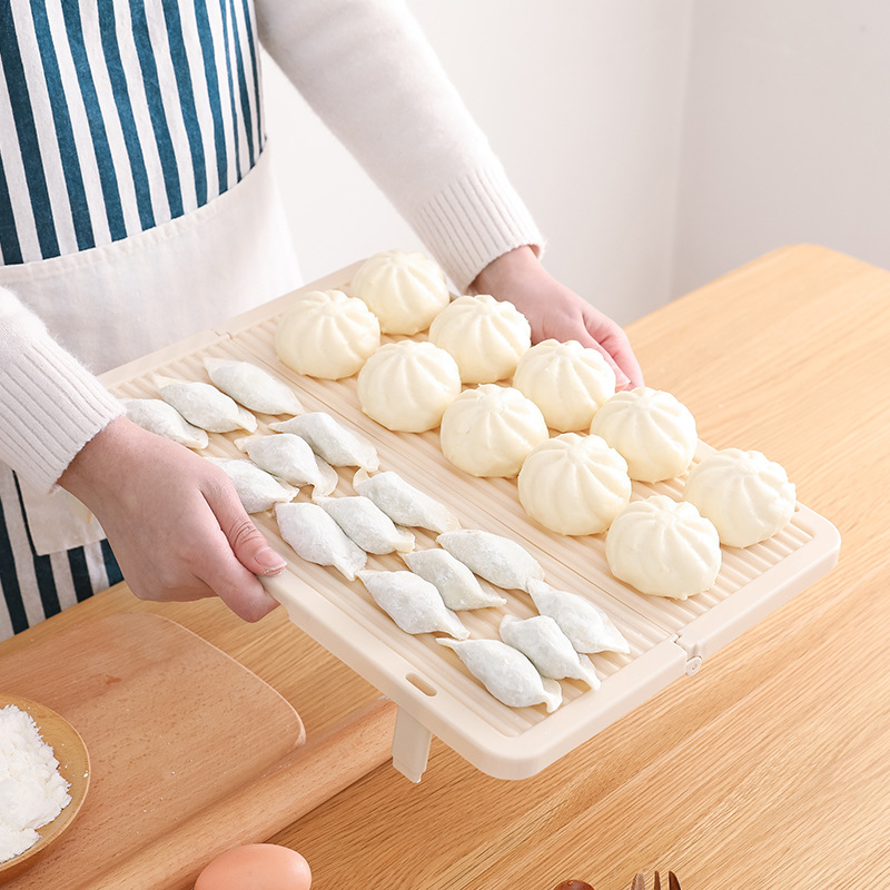 Foldable dumpling tray, household dumpling placemat, pasta curtain cover mat