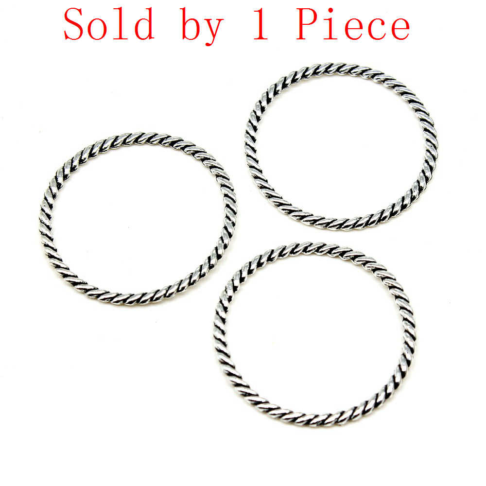 Retail Display 1 Piece 29x30mm Circle Charms Pendant Charm Accessories For Women