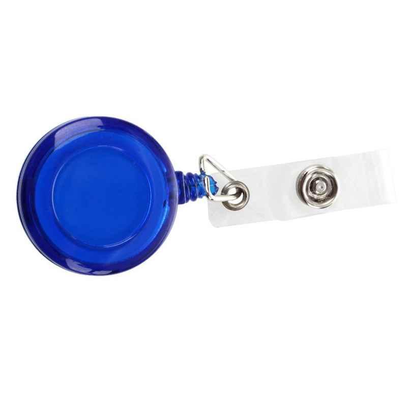 Porte-Badge rétractable pour passe de Ski avec porte-clé avec Clip bleu foncé