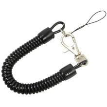 1 pçs tático retrátil mola elástica corda ferramenta de engrenagem de segurança anti-perdido telefone chaveiro portátil colhedores de pesca ao ar livre ferramenta