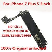 터치 id가없는 iphone7plus 32 gb 마더 보드 용 100% 오리지널 잠금 해제 무료 icloud  32 gb + tool + gift