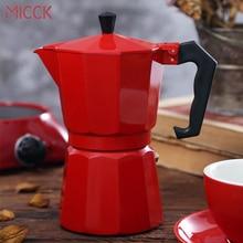 купить MICCK Coffee Maker Aluminum Mocha Espresso Percolator Pot Coffee Maker Coffe Filter Italian Espresso Percolator Kitchen Tools по цене 741.19 рублей
