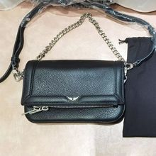 2021 New Wings Decoration Geniune Leather Bags Two Chains Women's Single Shoulder Classic Bags