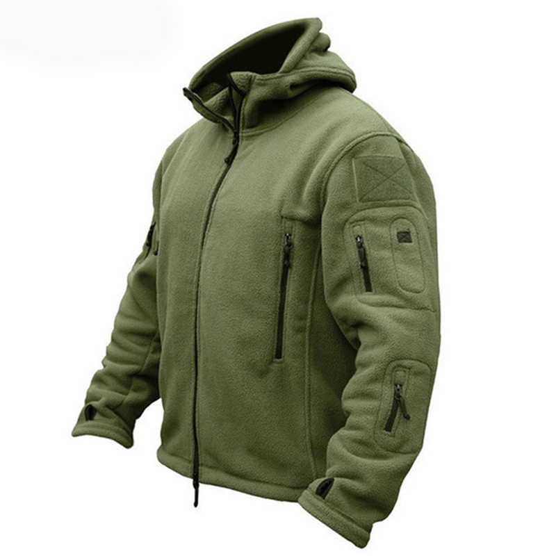 Winter Military Fleece Warm Tactical Jacket Men Thermal Breathable Hooded Men Jacket Coat Outerwear Army Hiking Jackets