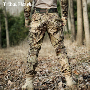 Image 2 - Military Cargo Pants Men Tactical Army SWAT Camo Pants Combat Paintball Camouflage Pants Uniforms Work Trousers Knee Pads