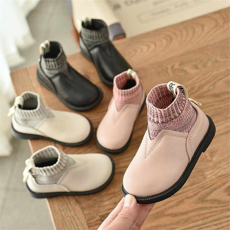 Baby small boots 2019 autumn and winter new girls princess boots wool mouth small boots girls boots