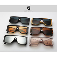 GOZLUGU Luxury brand large shield sunglasses men's square bi