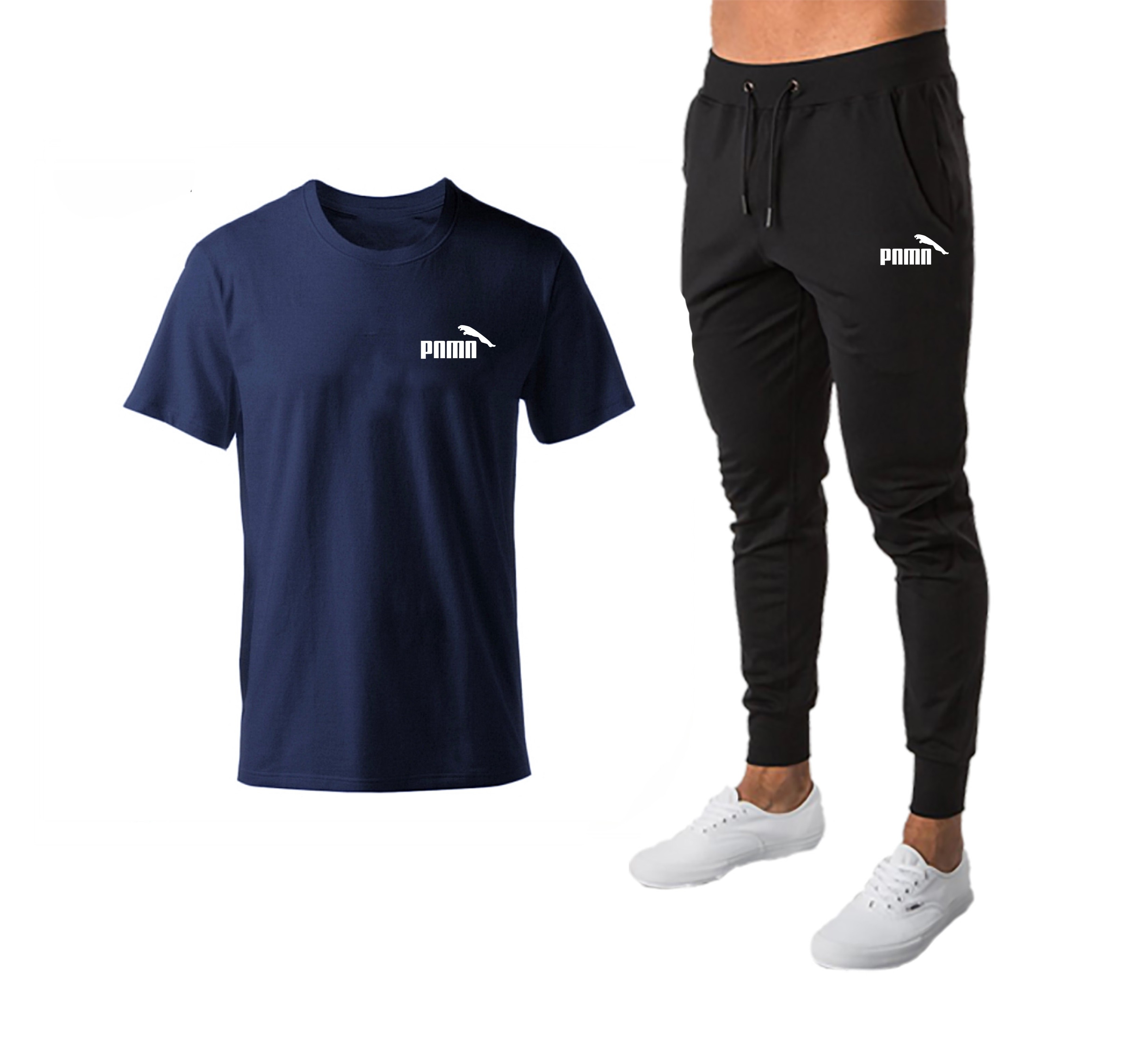 Running Set Men's Tracksuit Sports T Shirt + Jogging Pants Sport Suit Gym Fitness Clothing Running Exercise Workout Clothe