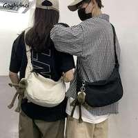 Bolso cruzado estilo coreano para hombre, bandolera Lisa elegante estilo Harajuku de gran capacidad, informal, Kpop