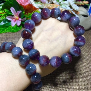 Image 2 - Genuine Natural Auralite 23 Round Beads Bracelet 12mm 13mm 14mm Natural Stone Bracelets Women Lady Stretch Healing Crystal