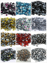 Ss3, ss4,ss8,ss12,ss34 quente fix strass glitter strass flatback cristal hotfix pedras ferro em strass para vestuário
