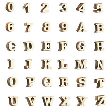 Wooden Letters - 144-Count Wood Alphabet and Numbers for DIY Craft, Home Decor, Natural Color, Small
